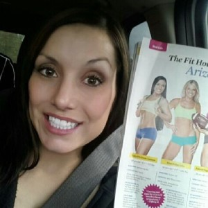 Featured in Muscle & Fitness Hers, Fit Housewives of Arizona at 14 weeks pregant.
